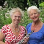 Organiste Thea Riesebos en Maud Sauer